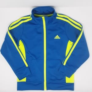 Adidas Track Jacket Blue and Florescent Yellow